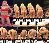 Trish Stratus In Her Thong x2