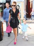 Victoria Beckham and son Cruz Beckham out for lunch at Pink Taco in Century City - May 27