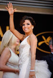 Eva Longoria in white dress at Kung Fu Panda Premiere during the 61st International Cannes Film Festival, Cannes